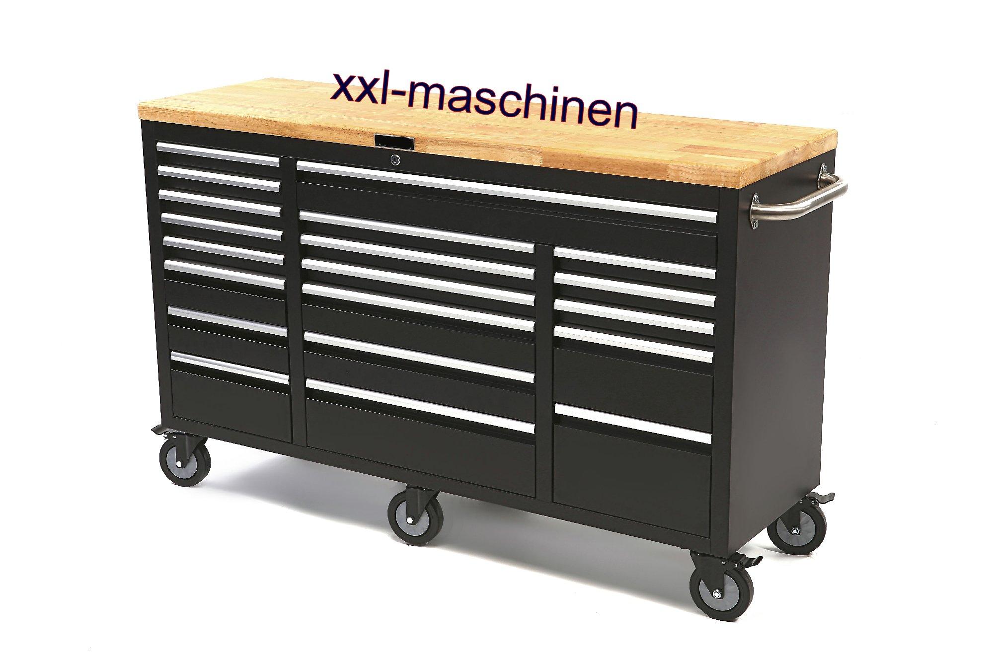 werkstattwagen werkzeugwagen schwarz mit 20 schublad. Black Bedroom Furniture Sets. Home Design Ideas