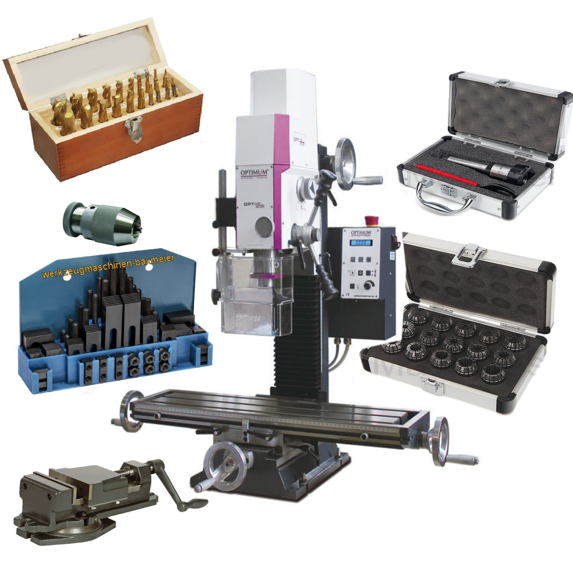 Bohr-Fräsmaschine Set 6